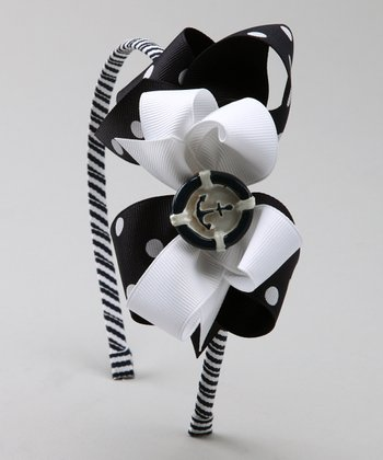Navy Anchor Headband