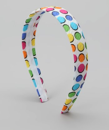 Rainbow Dot Headband