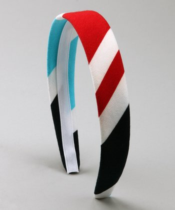 Red & Blue Stripe Americana Headband