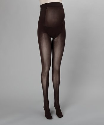 Brown Coffee Maternity Tights
