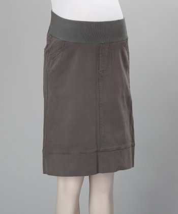Gray Carola Underbelly Maternity Skirt