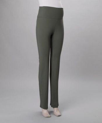 Hunter Green Pantajazz Maternity Pants