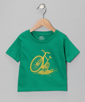 Kelly Green Bike Splash Tee - Toddler