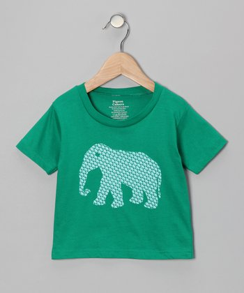 Kelly Green Fahantay Tee - Toddler