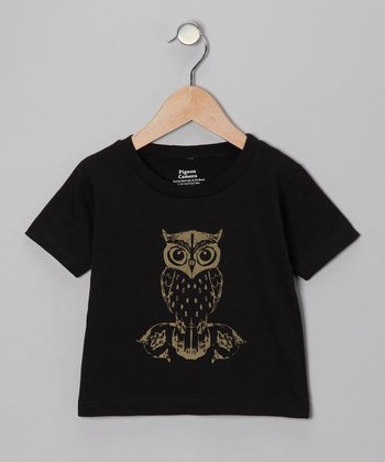Black Whoo Tee - Toddler