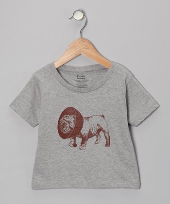 Heather Gray Bulldog Tee - Toddler
