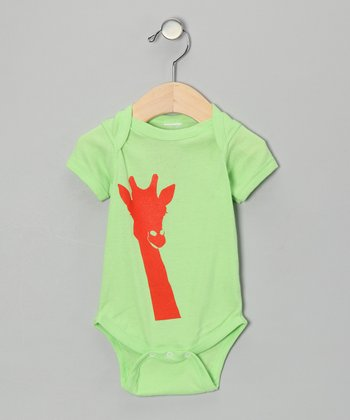 Key Lime Giraffe Bodysuit - Infant