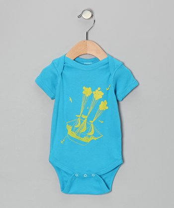 Turquoise Sail Away Bodysuit - Infant