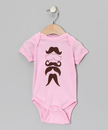 Light Pink Mustache Man Bodysuit - Infant