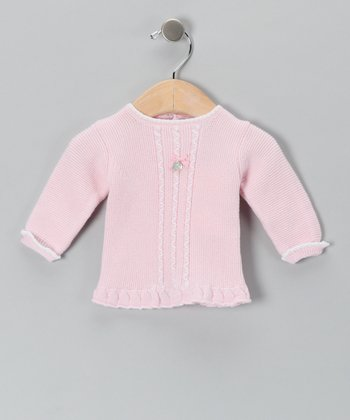 Pili Carrera Pink Medallion Wool-Blend Sweater - Infant
