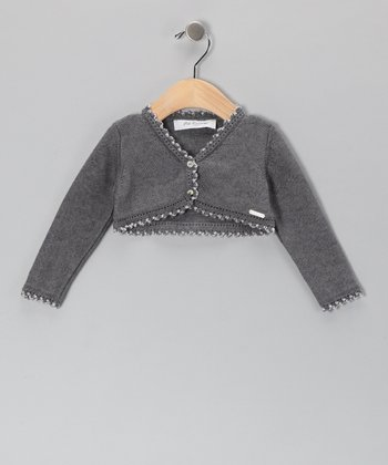 Pili Carrera Gray Wool-Blend Bolero - Infant, Toddler & Girls