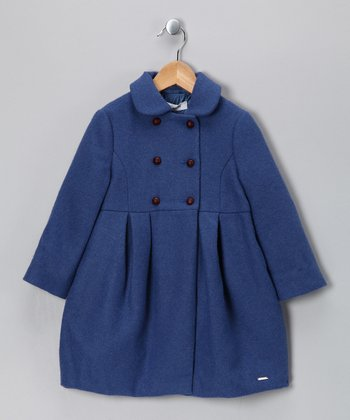 Pili Carrera Blue Wool-Blend Swing Coat - Infant, Toddler & Girls