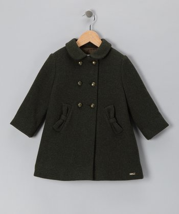 Pili Carrera Evergreen Wool-Blend Coat - Infant, Toddler & Girls