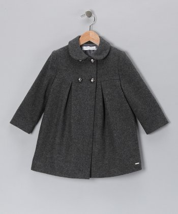 Pili Carrera Gray Wool-Blend Swing Coat - Infant, Toddler & Girls