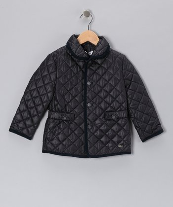 Pili Carrera Black Puffer Jacket - Infant, Toddler & Girls