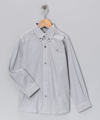 Pili Carrera Gray Button-Up - Toddler & Boys