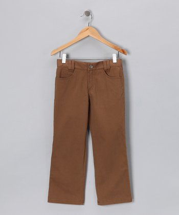 Pili Carrera Brown Pants - Infant, Toddler & Boys