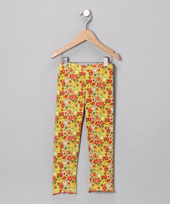 Goldenrod Serenity Floral Leggings - Infant & Toddler