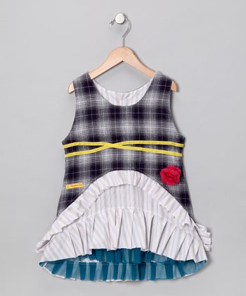 Blue Beatrice Dress - Infant & Toddler