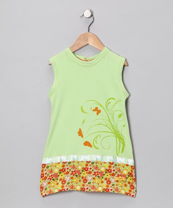 Lime Mod Dress - Infant, Toddler & Girls