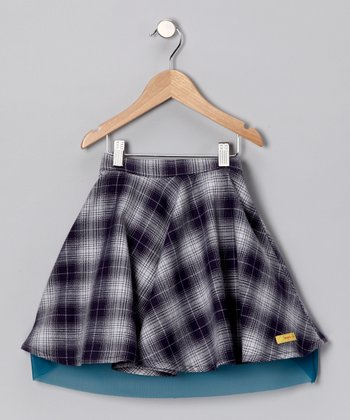 Blue Plaid Skirt - Infant, Toddler & Girls