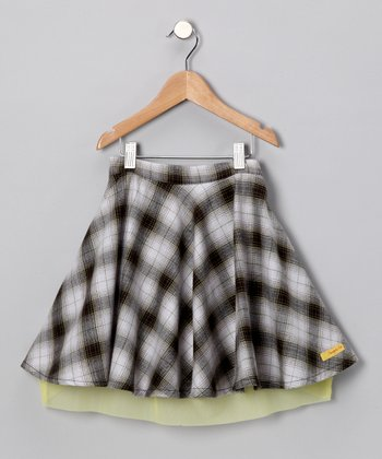 Black & Yellow Plaid Skirt - Infant, Toddler & Girls