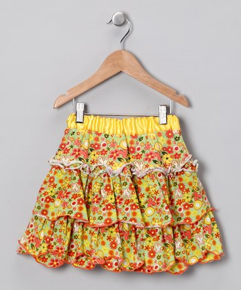Serenity Floral Ruffle Skirt - Infant, Toddler & Girls