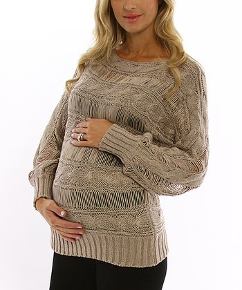 PinkBlush Mocha Maternity Sweater