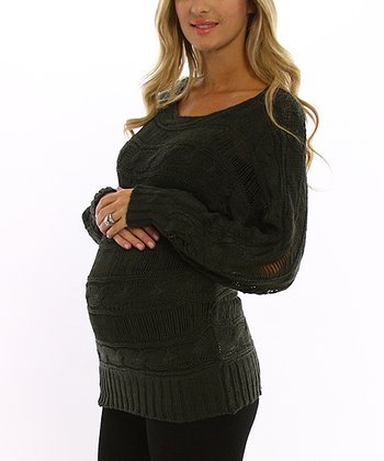 PinkBlush Olive Maternity Sweater