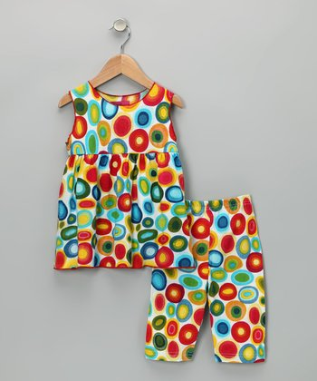 Rainbow Circle Tunic & Pants - Toddler & Girls