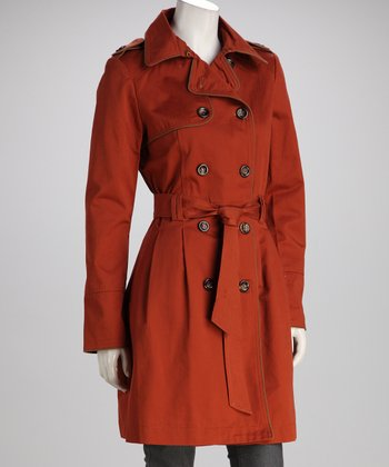 Brown Hepburn Trench Coat