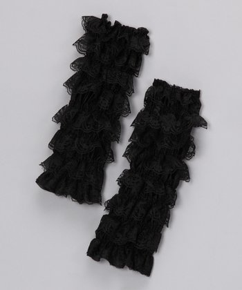 Black Lace Leg Warmers