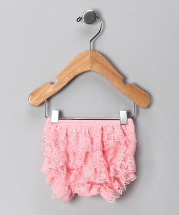 Light Pink Ruffle Diaper Cover - Infant