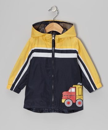 New York-Designed Navy Truck Jacket