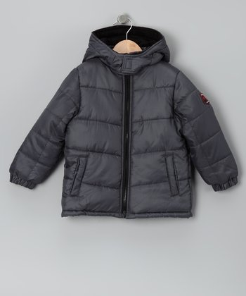 Gray Puffer Coat - Boys