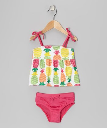 White Pineapple Tankini - Infant