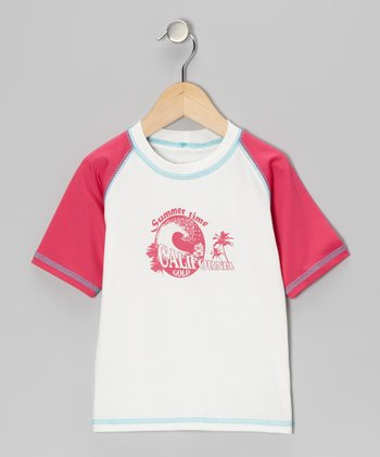 Fuchsia Wave Rashguard - Infant, Toddler & Girls
