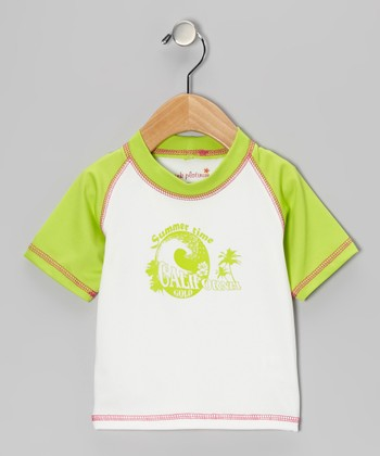Lime Wave Rashguard - Infant, Toddler & Girls