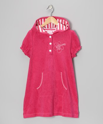 Fuchsia Hibiscus Cover-Up - Toddler