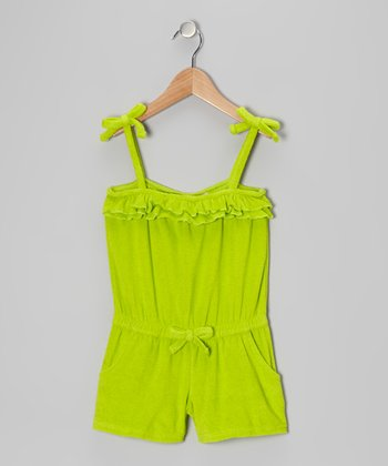Lime Ruffle Romper Cover-Up - Toddler