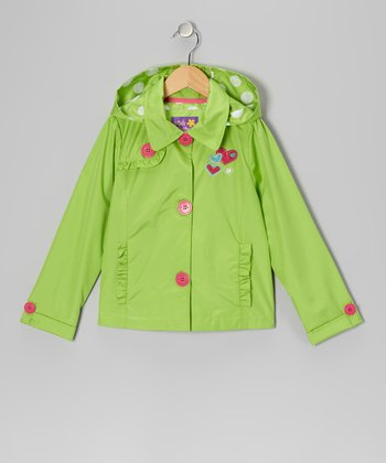 Lime Heart Ruffle Jacket - Toddler & Girls