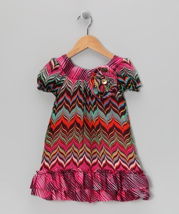 Jade & Pink Zigzag Dress - Toddler & Girls