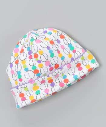 White Glass Bead Beanie - Infant