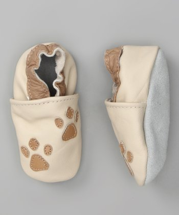 Ivory & Tan Small Paw Booties