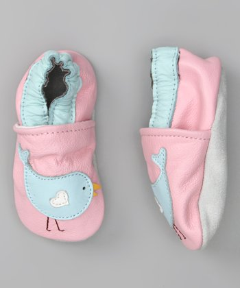 Light Pink & Light Blue Chirp Booties