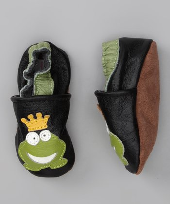 Pippytoes Black & Green Frog Prince Booties