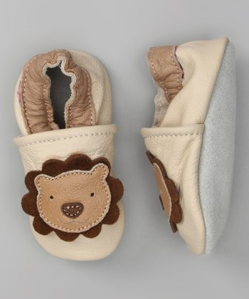 Ivory & Tan Lion Booties