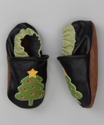 Black & Green Merry Booties