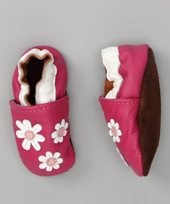 Pippytoes Hot Pink Triple Flower Booties