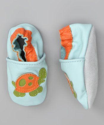 Light Blue & Orange Turtle Booties